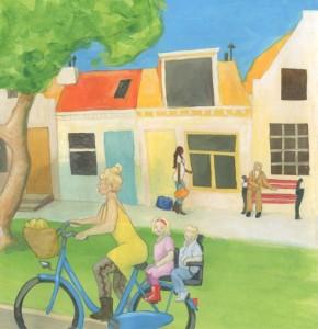 mensenstraat header schildering Detail 2
